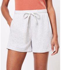 loft petite lou & grey signature softblend drawstring shorts