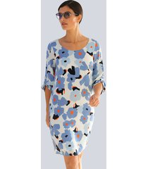 jurk alba moda lichtblauw::koraal