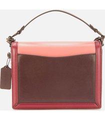 coach women's colorblock hutton shoulder bag - taffy brnshd amber multi