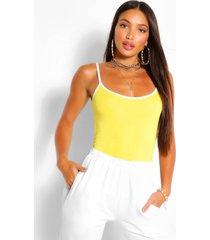 tall hemdje met contrasterende zoom, geel