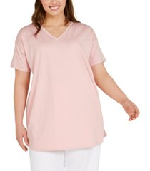eileen fisher plus size v-neck tunic top