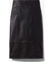 proenza schouler white label leather pencil skirt black 8