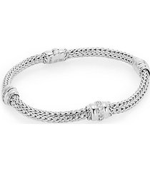 bedeg 0.29 tcw diamond & sterling silver barrel station bracelet