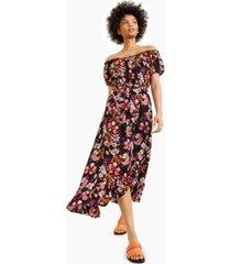bar iii off-the-shoulder midi dress, created for macy's