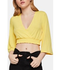 bcbgeneration 3/4-sleeve crop top