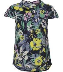 blouse long 1/2 sleeve blouses short-sleeved blå betty barclay