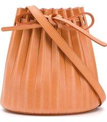 mansur gavriel plisettata pleated bucket bag - neutrals