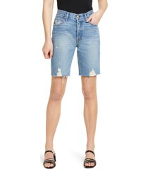 noend muse9 high waist distressed cutoff denim shorts, size 24 in coast at nordstrom