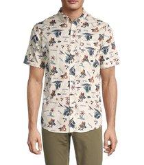 ezekiel men's islander regular-fit shirt - bone - size xl