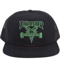 boné thrasher magazine skategoat trucker preto/verde