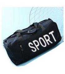 mochila grande academia fitness a prova d'agua sportiva sport azul