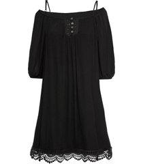abito con pizzo e spalle scoperte (nero) - bodyflirt