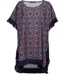 goa poncho blouses short-sleeved multi/mönstrad missya