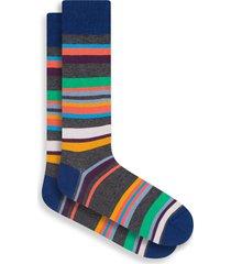 men's bugatchi diamond socks, size one size - orange