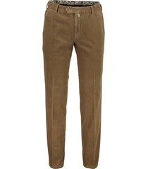 pantalon meyer bonn flatfront ribstof bruin