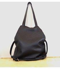 duża czarna skórzana torba 02