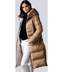 keerbare mantel alba moda beige::offwhite