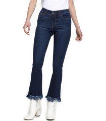 jeans flare crop lucia azul five
