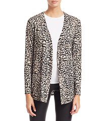 soft touch animal print cardigan