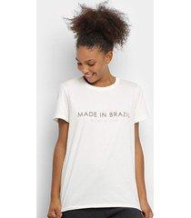 camiseta colcci fitness made in brazil feminina - feminino