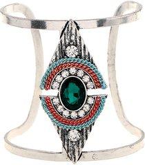 braccialetti regolabili del triangolo della boemia braccialetti larghi del cristallo dei rhinestones d'annata per le donne