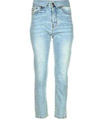 straight jeans met gevouwen taille wendy l34  blauw