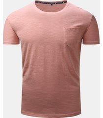 t-shirt in cotone casual manica corta a manica corta da uomo primavera estate