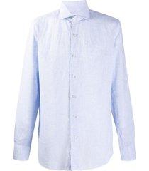 barba culto spread collar shirt - blue