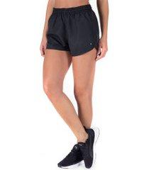 shorts oxer básico run - feminino - preto
