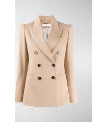 chloé double-breasted stretch-wool blazer