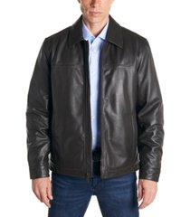 perry ellis men's classic leather jacket