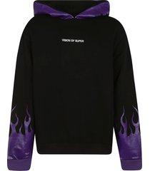 vision of super flame printed hoodie