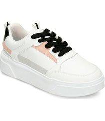 zapatos casuales blanco rosado bata inie mujer