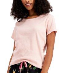 jenni ribbed-knit pajama t-shirt, created for macy's