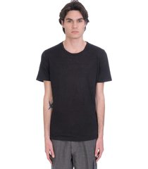 120% lino t-shirt in black linen