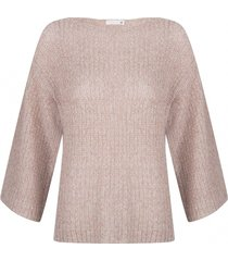 supertrash trui 3/4 mouw blush lurex
