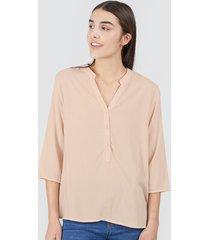 blusa unicolor color rosado, talla xs