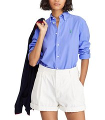 blusa mujer relaxed fit oxford azul polo