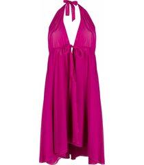 fisico halterneck fine-knit mini dress - pink