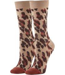 hue women's leopard-print trouser socks
