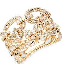 14k yellow gold & diamond midi ring