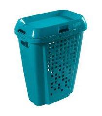 cesto de roupas astra rb7 45 litros com tampa spray
