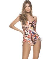 vestido de baño estampado tropical kibys