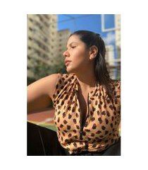 regata animal print plus size bege regata animal print plus size bege p kaue plus size