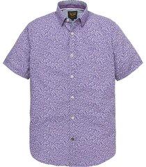 short sleeve shirt poplin print viola