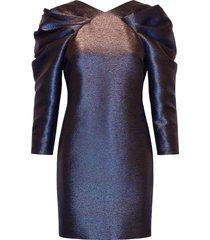 iridiscent dress kort klänning blå karl lagerfeld
