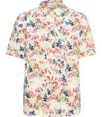 blouse met bloemenmotief van bio-katoen, wit-motief 40