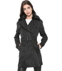 casaco trench coat ellus bonded twill preto
