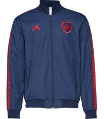 afc anthem jkt outerwear sport jackets blå adidas performance