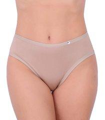 calcinha tangão vip lingerie confort microfibra bege